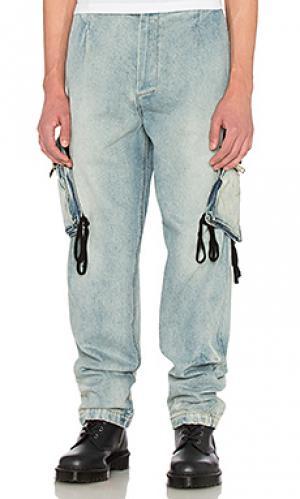 Джинсовые брюки карго 424. Цвет: none