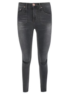 Зауженные джинсы ONE X. Цвет: серый