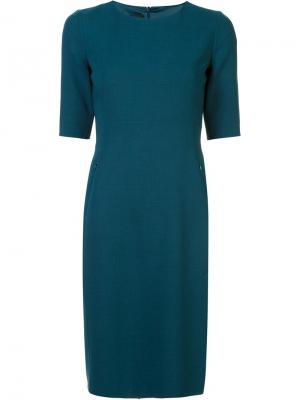 Классическое приталенное платье Akris. Цвет: зелёный