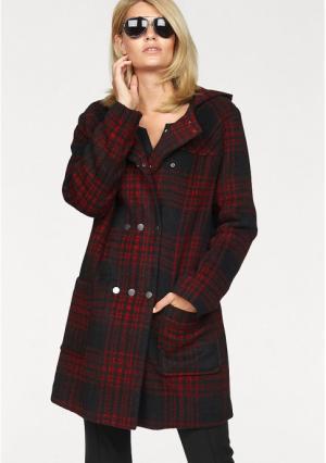 Короткое пальто Laura Scott. Цвет: черный/красный в клетку