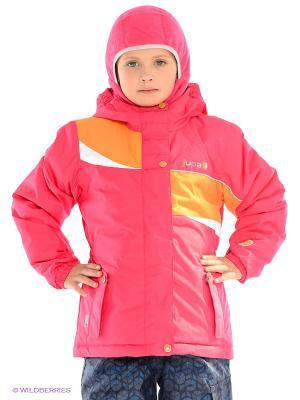 Куртка Jupa. Цвет: малиновый, оранжевый