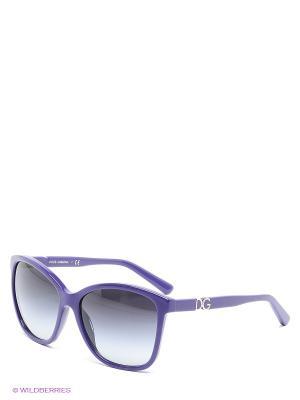 Очки солнцезащитные DOLCE & GABBANA. Цвет: фиолетовый, черный