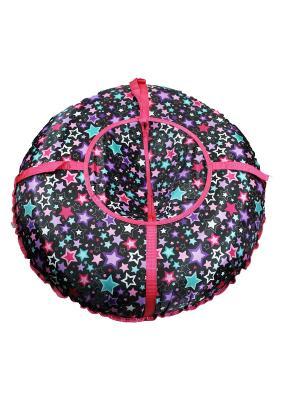 Санки надувные Ватрушка Метиз. Цвет: черный, розовый