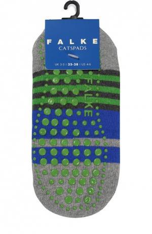 Носки Catspads в полоску Falke. Цвет: серый