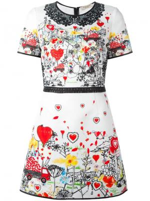Приталенное платье с принтом Piccione.Piccione. Цвет: многоцветный