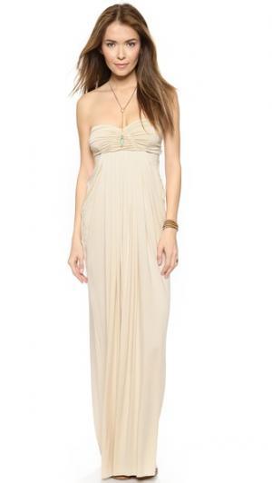Платье в пол Fortuna Rachel Pally. Цвет: золотой