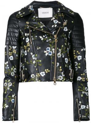Укороченный пиджак с вышивкой Erdem. Цвет: чёрный