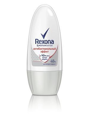 Антиперспирант ролл Rexona Motionsense Антибактериальный эффект 50 мл. Цвет: белый