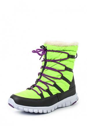 Дутики King Boots. Цвет: зеленый