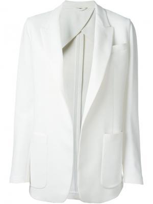 Блейзер с накладными карманами Fay. Цвет: белый