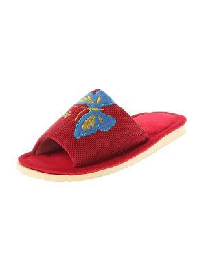 Тапочки домашние женские Migura. Цвет: красный, желтый, синий, голубой