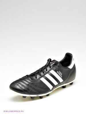 Бутсы Adidas. Цвет: черный, белый