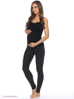 Леггинсы бесшовные для беременных ФЭСТ. Цвет: черный