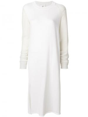 Длинное трикотажное платье Lost & Found Rooms. Цвет: белый
