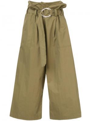 Широкие брюки Tilly Rejina Pyo. Цвет: зелёный