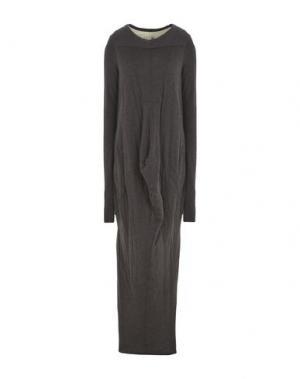 Длинное платье RICK OWENS LILIES. Цвет: свинцово-серый