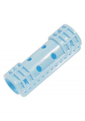 Бигуди-пластиковые для волос в комплекте (12 шт.) melon Pro. Цвет: синий (голубой)