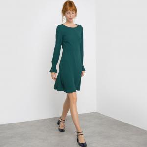 Платье из струящейся ткани MADEMOISELLE R. Цвет: темно-зеленый