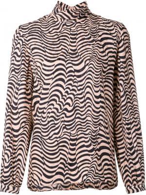 Блузка с животным принтом Vanessa Seward. Цвет: розовый и фиолетовый