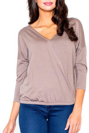 Блуза Figl. Цвет: коричневый