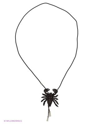 Кулон-галстук Скорпион Мастер ГРиСС. Цвет: темно-коричневый, черный