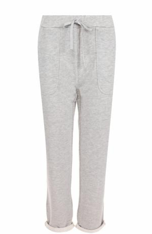 Укороченные хлопковые брюки Deha. Цвет: серый