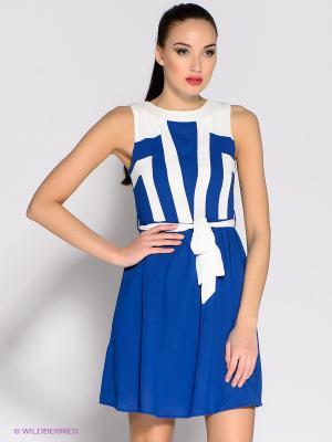 Платье Ya Los Angeles. Цвет: темно-синий, белый