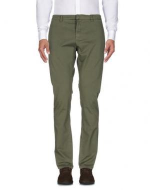 Повседневные брюки HЁLLS BЁLLS. Цвет: зеленый-милитари