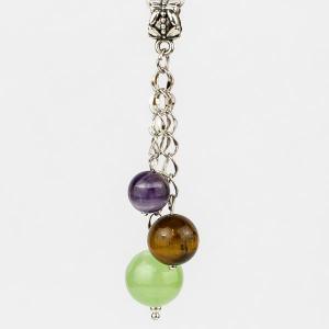 Кулон-оберег 3 хранителя - На здоровье самоцветы, арт. пд-кам2412 Бусики-Колечки. Цвет: зеленый