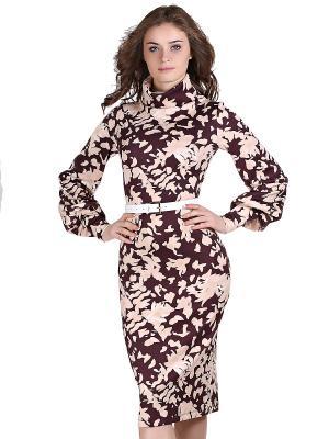 Платье OLIVEGREY. Цвет: бордовый, бледно-розовый