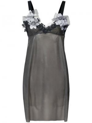 Платье в стиле бэби-долл Les Animaux. Цвет: чёрный