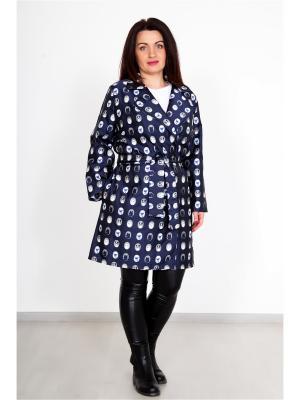 Плащ с поясом Lika Dress. Цвет: темно-синий, серый