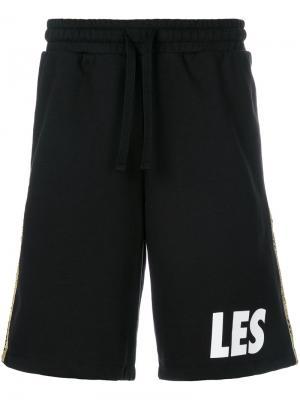 Шорты с полосками по бокам Les Benjamins. Цвет: чёрный
