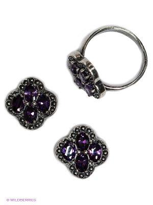 Комплект Happy Garnets. Цвет: фиолетовый, серебристый