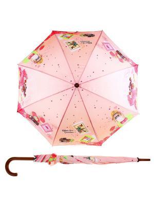Зонт Bizon. Цвет: розовый