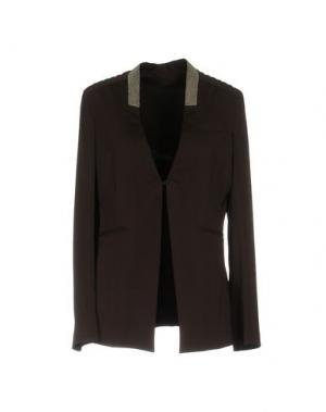 Пиджак BRUNELLO CUCINELLI. Цвет: темно-коричневый