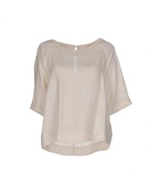 Блузка 120% LINO. Цвет: слоновая кость