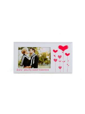 Фоторамка Влюбленность Русские подарки. Цвет: бежевый, красный