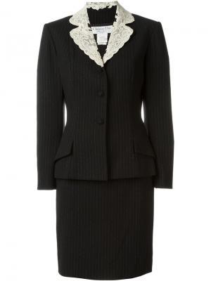 Костюм в тонкую полоску Christian Dior Vintage. Цвет: чёрный