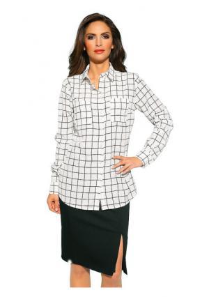 Блузка PATRIZIA DINI. Цвет: молочно-белый/черный