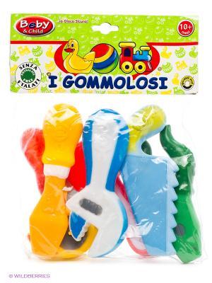 Набор столярных инструментов, 6 шт. в пакете Globo. Цвет: зеленый, желтый, оранжевый