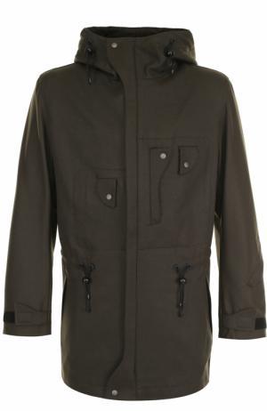 Шерстяная куртка на молнии с капюшоном Y-3. Цвет: темно-зеленый