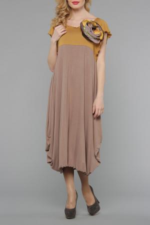 Платье Kata Binska. Цвет: горчица, темно-бежевый