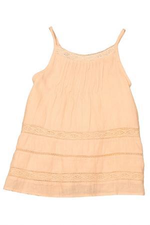 Блузка Mango Kids. Цвет: оранжевый