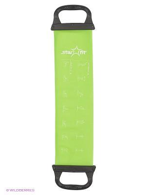 Эспандер ленточный STAR FIT ES-202 жесткая ручка, зеленый Starfit. Цвет: зеленый