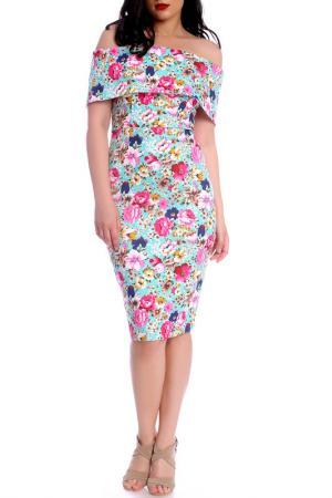 DRESS Moda di Chiara. Цвет: blue with floral print