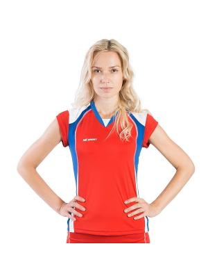 Женская волейбольная футболка Energy 2K. Цвет: красный, белый, синий
