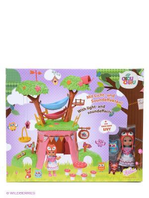 Игрушка CHOU Мини-лисичка Дерево-домик функц. с куклой, кор. ZAPF. Цвет: розовый