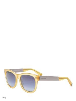 Солнцезащитные очки DQ 0162 39W Dsquared2. Цвет: желтый, серебристый