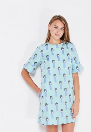 Платье Clabin. Цвет: бирюзовый
